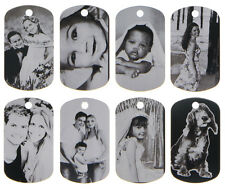"CUSTOM MADE PERSONALIZED PHOTO LASER DOG TAG PICTURE PENDANT w/ 24"" BALL CHAIN"