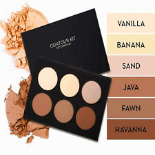 Powder Contour Kit Face Bronzer Concealer Palette 6 Color Set Medium to Deep bid