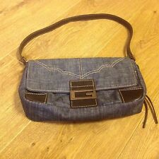 Guess Handbag - Denim with Brown Leather Strap
