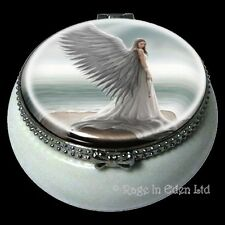 *SPIRIT GUIDE* Fantasy Angel Art Mini Ceramic Trinket Box By Anne Stokes (5.5cm)