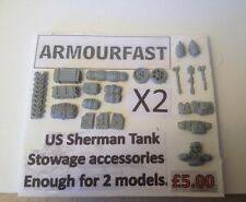 Early War 20mm (1/72) Armourfast US Sherman Stowage Set (2 Vehicles)