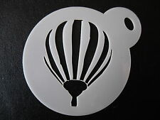 Laser cut small hot air balloon design cake, cookie,craft& face painting stencil