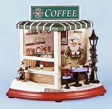 CHRISTMAS DECORATIONS - NORTH POLE COFFEE SHOP - LIGHTED AND MUSICAL DECORATION
