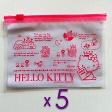 Hello Kitty resellable transparente Polietileno Bolsas Ziplock artículos de tocador/líquidos