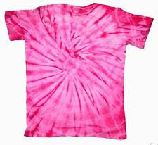 PETITE PINK SPIDER TYE DYED TEE SHIRT unisex SIZE LG hippie tie dye NEW PET06