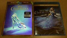New Disney Cinderella 2015 Bluray/DVD/DC Bestbuy Exclusive w/Lenticular Slip