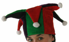 Jester Hat Tall with Multi Points Red, Green and Black