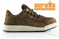 SCRUFFS GRAFT Waterproof Gore Tex Safety Work Trainers Shoes Brown Leather