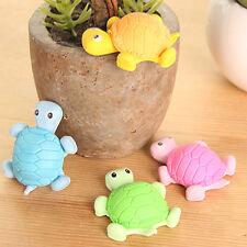 4pcs niedlich Schildkröte Radiergummi Miniatur Tier Form Gummi Schüler Geschenk