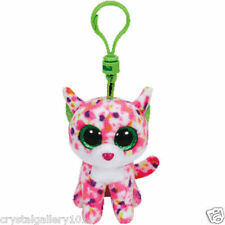 "TY Beanie Babies Boo's Sophie Cat Key Clip 3"" Stuffed Collectible Plush Toy NEW"