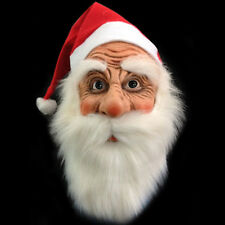 Adult Halloween Face Mask Santa Claus Masquerade Costume Fancy Full Mask Hot