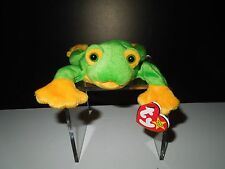 NWT Retired Ty 1997 Smoochy the Frog Beanie Baby DOB October 1, 1997