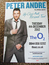 PETER ANDRE UP CLOSE AND PERSONAL TOUR 2012 LONDON A4 POSTER