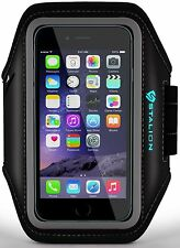 iPhone 5 5S 5C Armband: Stalion® Sports Running & Exercise Gym Sportband (Jet Bl