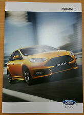 2015 FORD FOCUS ST 3 PAGE FOLD OUT COLOUR BROCHURE MINT