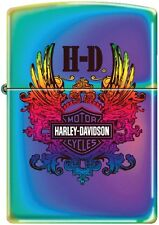 Zippo Harley Davidson HD Multi Monogram Spectrum Windproof Lighter NEW RARE
