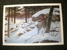 "SN lithograph:  Harry Antis ""Passing  Winter Silence"" Crow/Trapper ed 500 1978"
