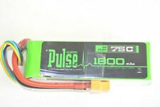 Pulse 14.8V 1800mah 4S 75C Lipo Battery w/ Xt60 Connector : Multirotor
