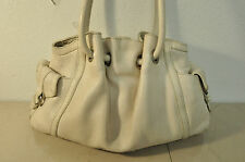 Cole Haan Ivory Pebbled Leather Handbag Purse satchel Shoulder Bag