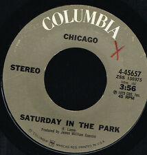 "45T 7"": Chicago: saturday in the park. columbia. A4"