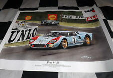 FORD GT40 LE MANS 24 HOURS DENNY HULME 1966 NEW PAINTING PRINT ART CHRIS DUGAN