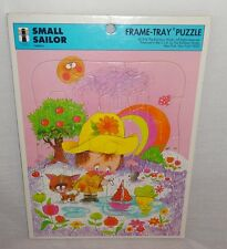 Vintage Small Sailor Frame Tray Puzzle 1974 75909-3 The Rainbow Works U.S.A.