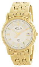 Rotary Men's Champagne Dial Gold Tone Stainless Steel Bracelet Watch UC371