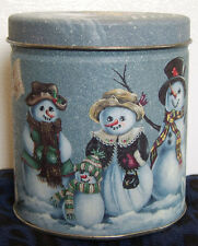Small Christmas Tin / Snow Men by Century Resources - Vintage
