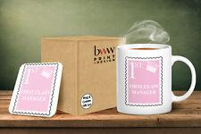 First Class Manager Mug And Matching Coaster Set - Pink