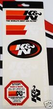 ORIGINALE K & N Motorsport Adesivo Set - 6 Adesivi, Decalcomanie, STICKERS-NUOVO/NEW -