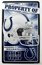 New NFL Licensed Indianapolis Colts Property Sign Plastic Decor Football League