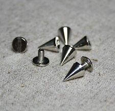Metal Rivet spikes, punk cones, studs, screw back 14mm – pack of 10