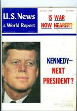 1960 U.S. News & World Report: John F. Kennedy Next President? Is War Nearer?