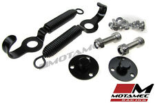 Motamec Racing Boot / Bonnet Spring Loaded Fasteners Clips with Fittings BLACK