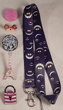 Cheshire Cat Lanyard Set with 5 Trading Pins Walt Disney World Parks - Brand NEW