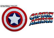 """Marvel Captain America Shield Logo Embroidered Iron/Sew-On 3"""" Patch USA Seller"""