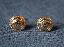 Cuff links, Men's Medusa Stainless steel cuff links, 1 Pair Gold color