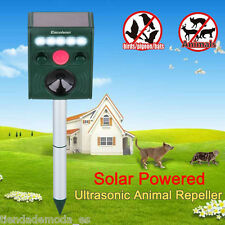 Yard Solar PIR Motion LED Ultrasonic Animal Dog Cat Repeller Frequency Flexible