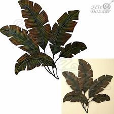 METAL PALM TREE Leaves Home Room Wall Decor Kitchen Tropical Indoor Outdoor Art