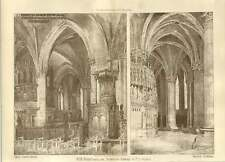 1904 Christ Church Cathedral Oxford Interior Fc Mears Drawings
