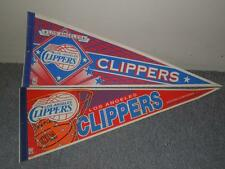 "Lot 2 Wincraft 90s 30""x12 NBA Basketball Pennants Los Angeles Clippers Eastern"