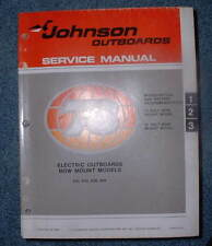 *1978 JOHNSON ELECTRIC BOW MOUNT SERVICE MANUAL (SUPER NICE)