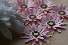 8 PASTEL PINK LARGE LAYERED PAPER FLOWERS. WEDDINGS, MOTHERS DAY, TOPPERS, CARDS