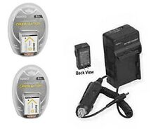 2 Batteries + Charger for Sony DSC-TX10G DSC-TX10L DSC-T110 DSC-T110B DSC-T110D