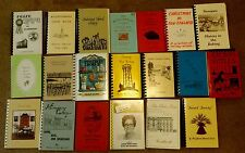 Lot of 20 Vintage New England Cook Books CT RI VT NH ME MA Recipes Cooking