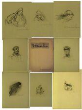 14-18 Steinlen Recueil de 20 remarques lithographiées en noir sur JAPON