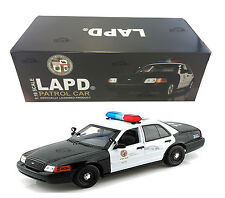 FORD CROWN VICTORIA LOS ANGELES POLICE LAPD 1:18 MODEL CAR BY DARON 60326