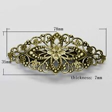 1pc Antique Bronze Iron Vintage Hair Barrette Hair Clip Brass Tray DIY Findings