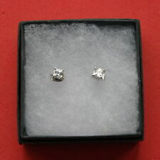 Beautiful 18 K White Gold GP Earrings With 2.68 Ct. Created Brilliant Diamont