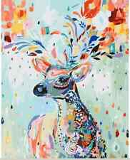 Diy Oil Painting Paint By Number Kit Home Deocr Wall Picture - Painted Deer
